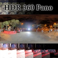 HDR 360 Pano Rio citysquare night