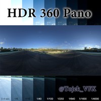 HDR 360 Pano racetrack sunrise04