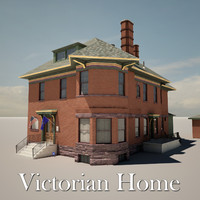 brick victorian home house 3d 3ds