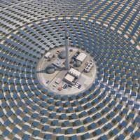 3d model thermal solar power plant