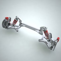 3d model suspension