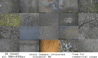 Stock Concrete 2d texture pack (20 images) HD