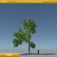 free tree modification v11 3d model