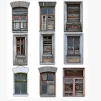 Windows Derelict Set (with Normals)