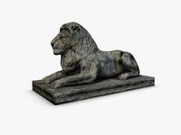 stone lion 3d max