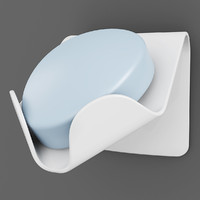 3d wall soap dish model