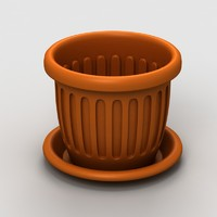 3d model plastic flowerpot