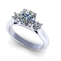 3d diamond ring x model