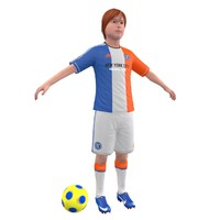 soccer kid 3d model
