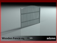 3d model of wooden fence wood