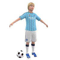 3d soccer kid model