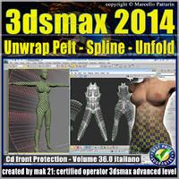3dsmax 2014 Unwrap Pelt Spline Unfold V.36 cd front