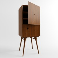 fibonacci cabinet 3d model