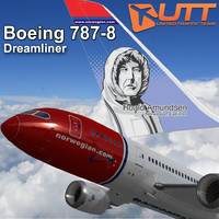 3d model boeing 787-800 norwegian airlines