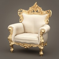 3d fabulous armchair f b model