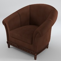 chesterfield armchair 5 3d model