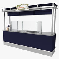 concession stand 3d model