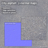 City asphalt (+ normal map)