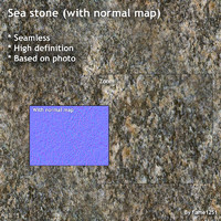 Sea stone (+ normal map)