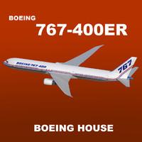 3dsmax boeing 767-400er house