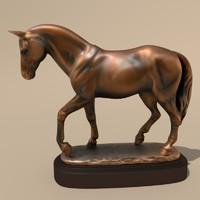 3d model horse statuettes