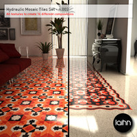 Hydraulic Mosaic Tiles Set - n.003
