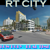 3d city street miami style model