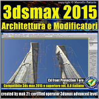 3ds max 2015 Architettura e Modificatori vol.8_cd front