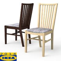 3d model norrnas dining chair oak