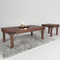 3d cozy sofa table