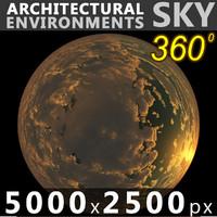 Sky 360 Sunset 007 5000x2500