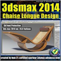 3ds max 2014 Chaise Longue v.28 Italiano cd front