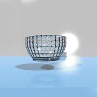 glass bowl 3d 3ds