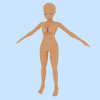 woman female human 3d obj