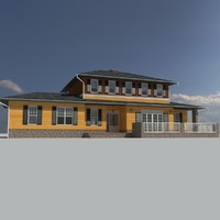 3d single family house materials model
