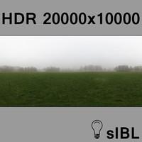 Park with fog