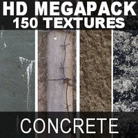 HD Mega Pack of 150 Concrete Textures