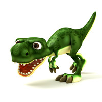 dino cartoon 3d obj