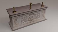 altar stone carved 3d model