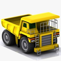 maya cartoon haul truck