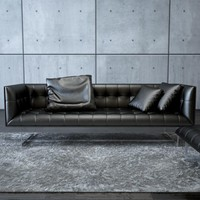 3d model edward leather sofa