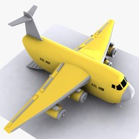 Cartoon Cargo Aircraft