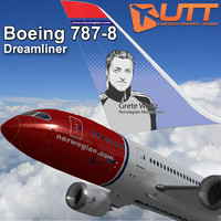 3d boeing 787-800 norwegian airlines model