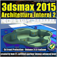 Video Corso 3ds max 2015 Architettura Interni vol 31 Italiano cd front