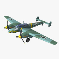 3d model purchase messerschmitt bf 110