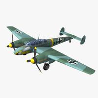 3d model purchase messerschmitt bf 110