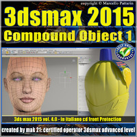 3ds max 2015 Compound Object 1 volume 4 Italiano_cd front