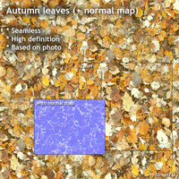 Autumn leaves (+ normal map)
