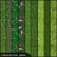 12 seamless grass textures