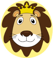 Cartoon Lion Face